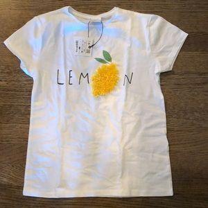 Zara lemon shirt